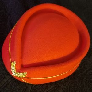 VINTAGE Wool Felt Stewardess HAT